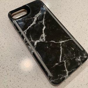 Lumee IPhone 8+ black marble case
